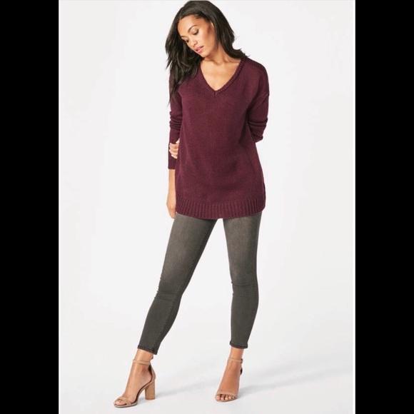 ef7b3ec723f JustFab Sweaters   Just Fab Light Weight Casual V Neck Sweater ...